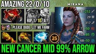 NEW Style Midlane Mirana 12Min Godlike & 100% Deleted Alchemist - Insane Right Click 22Kills DotA 2