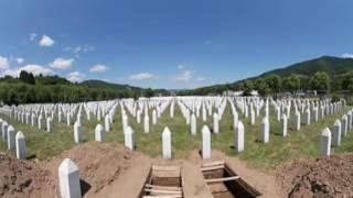360 derece video: Srebrenitsa kurbanlarının defnedildiği Potocari mezarlığı