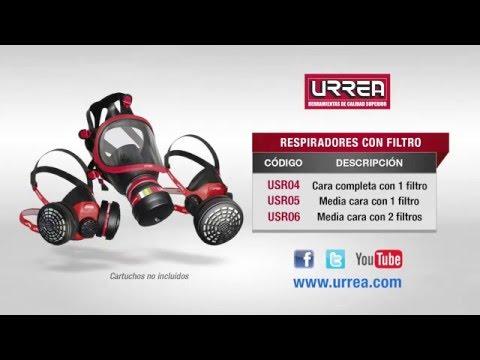 Mascarillas o respiradores con filtro Urrea URREA México
