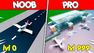 NOOB vs PRO BUILDING AIRPORT BATTLE ROBLOX TYCOON