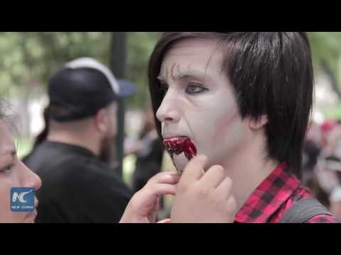 """""""Zombies"""" take over downtown Buenos Aires, but for charity"""