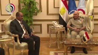 وزير الدفاع الفريق أول صدقى صبحى يلتقى رئيس هيئة الاستخبارات العسكرية السودانية