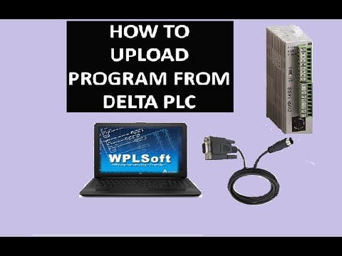 how to upload program from delta plc
