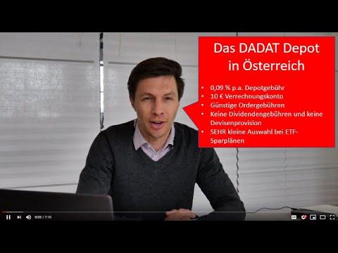 DADAT Depot: Die Kosten und für wen sinnvoll? Eine Übersicht Stand 04/2019