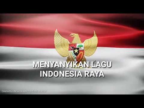 Karoke Lirik Lagu Indonesia Raya | Nada Rendah + Background Bendera Merah Putih - Low Key