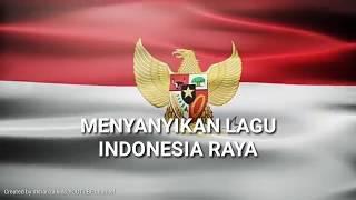 Karoke Lirik Lagu Indonesia Raya   Nada Rendah + Background Bendera Merah Putih - Low Key