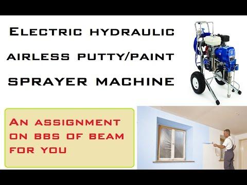 Electric Hydraulic Airless Putty/Paint Sprayer Machine
