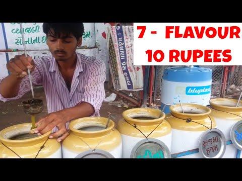 PANIPURI - 7 Different Flavours - Tasty Street Food (INDIA VILLAGE)