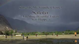Rainbow after rain- View of SKH Gilgit- Beautiful Shina Song- Full HD