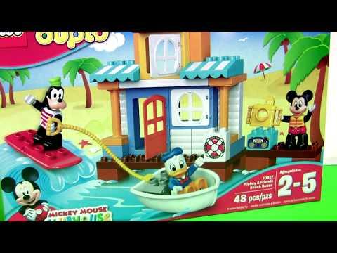LEGO DUPLO Mickey & Friends Beach House Party 10827 with Goofy Donald Duck Disney Preschool Kids