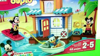 LEGO DUPLO Mickey & Friends Beach House Party 10827 with Goofy Donald Duck Disney Preschool Kids