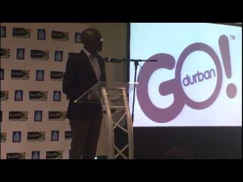 Minister Gigaba addresses the media in Durban