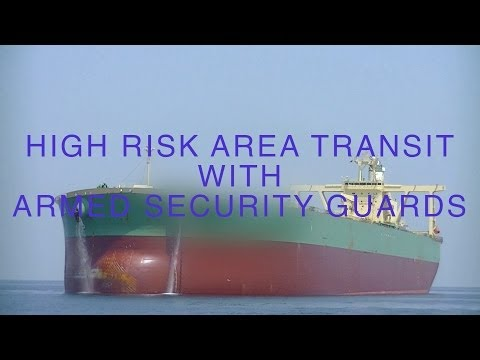 High risk area transit armed security guards