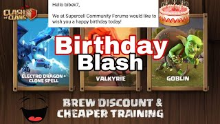 Clash of clans birthday blast 😍 Thanks Supercell for birthday wish🔥Sorry -Electricity problem 😭