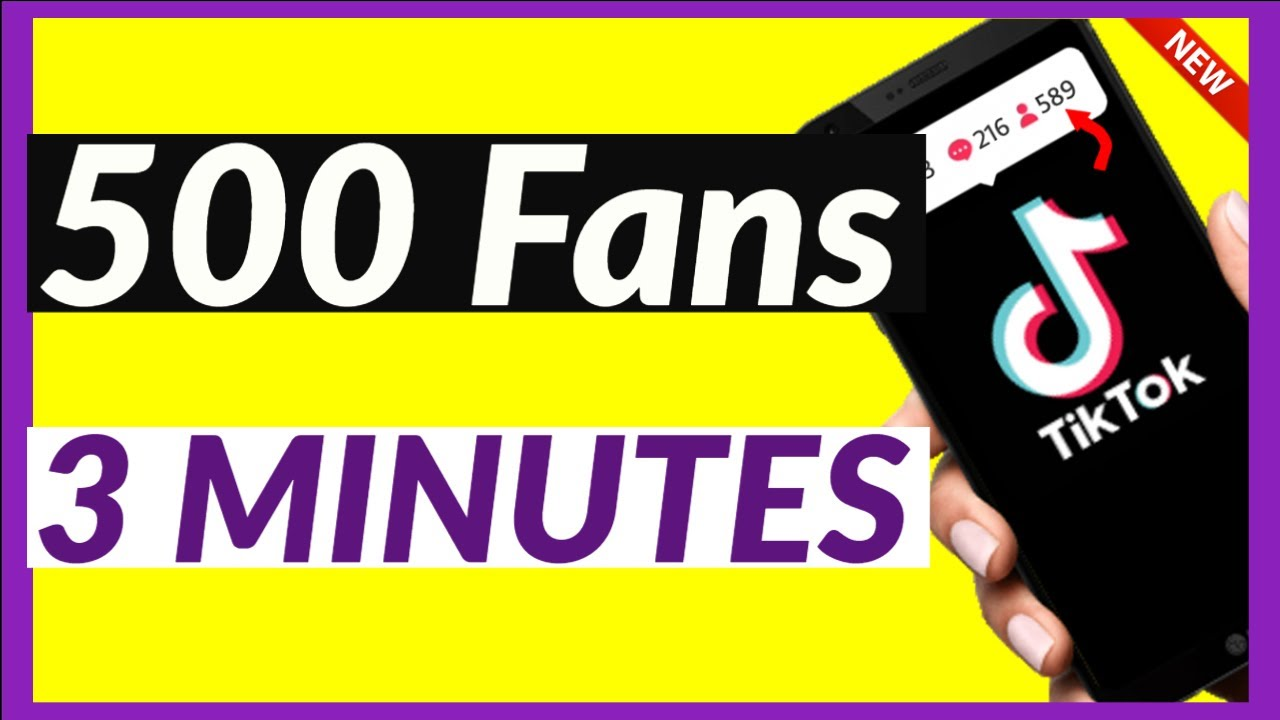 Download HOW TO GET 500 TIKTOK FOLLOWERS IN 3 MINUTES 2021 (WORKING)