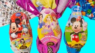 Disney Easter Surprise Eggs Mickey Mouse Clubhouse Disney Princess Ostereier Toy Videos