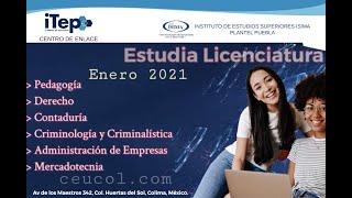 Licenciatura en Contaduría |Centro de Estudios ITEP | Instituto de Estudios Superiores ISIMA