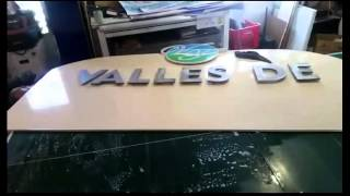 PVC Letters - Architectural Sign