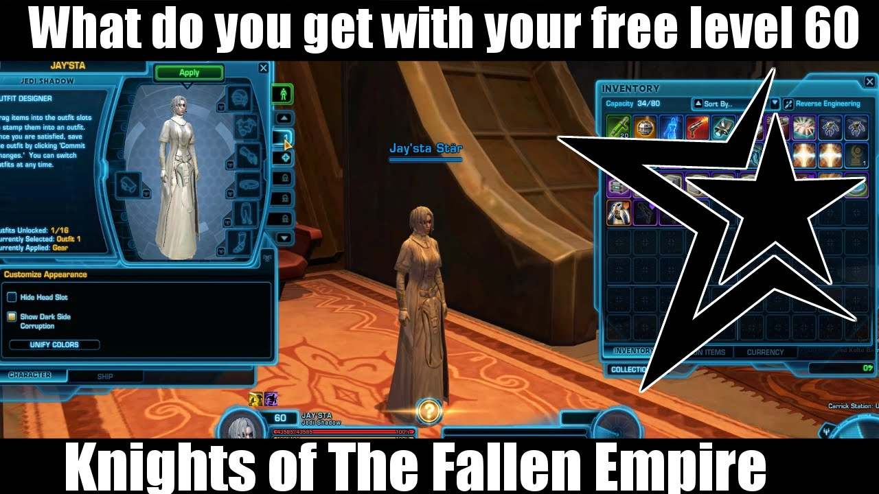 Swtor 4 0 Your Free Level 60 What You Get Youtube