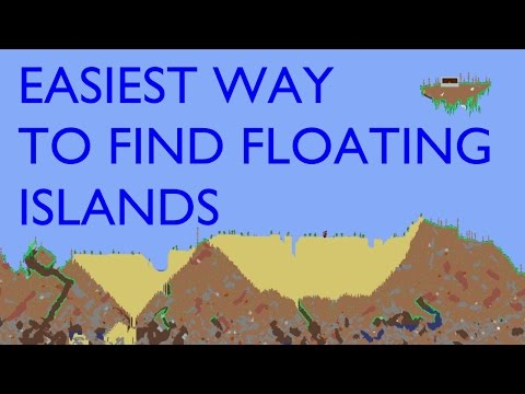 Terraria - EASIEST WAY TO FIND FLOATING ISLANDS - Xbox 360/PS4/PS3/Vita/iOS/Android