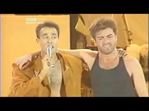 Wham - I´m Your man -con Simon LeBon y Elton John- (El Concierto Final - Estadio Wembley 1986)
