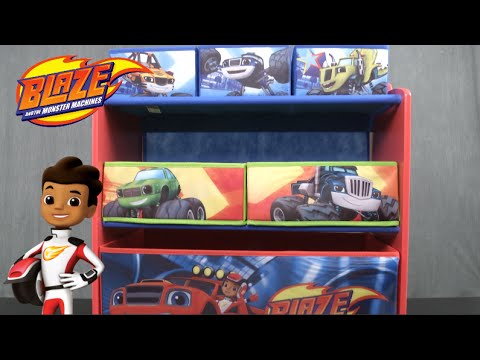 Blaze And The Monster Machines Multi Bin Toy Organizer From Delta