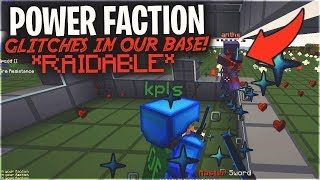 A HUGE POWER FACTION GLITCHED INTO OUR BASE... *RAIDABLE*| Minecraft HCF