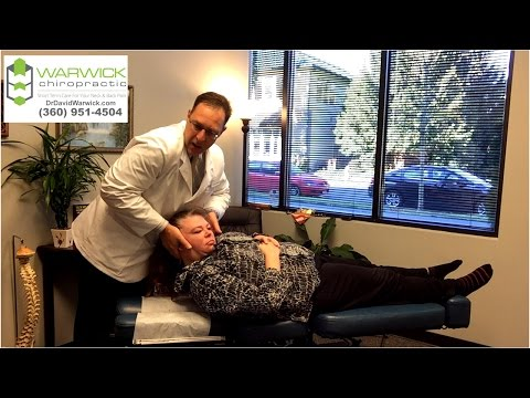 """""""Good Neck Crack"""" Says Patient to Lacey Olympia WA Back Neck Specialist Dr David Warwick"""