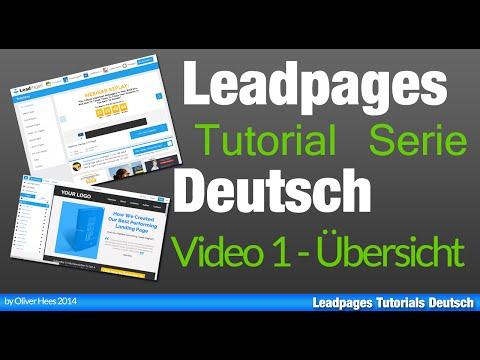Leadpages Deutsch Tutorial  - Leadpages Step By Step Erklärt - Tutorialserie !