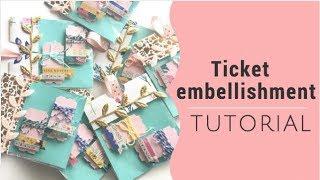 Maggie holmes Embellishments- DIY Ticket tutorial!- happy mail ideas