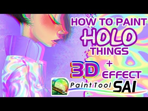How To Paint Holographic + 3D Effect on SAI - Step by Step - Tutorial