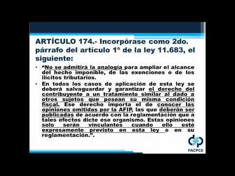 CAPACITACIÓN ON LINE - REFORMA IMPOSITIVA - LEY 27.430 - Video 5