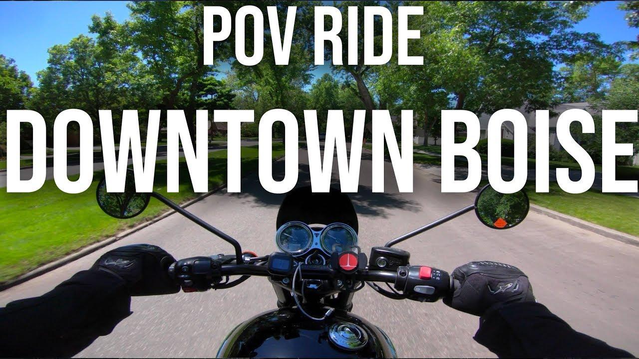 POV City Ride - Downtown Boise - 2018 Triumph Bonneville T120 Black