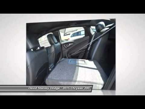 2015 Chrysler 200 David Stanley Dodge Ch9529 Youtube