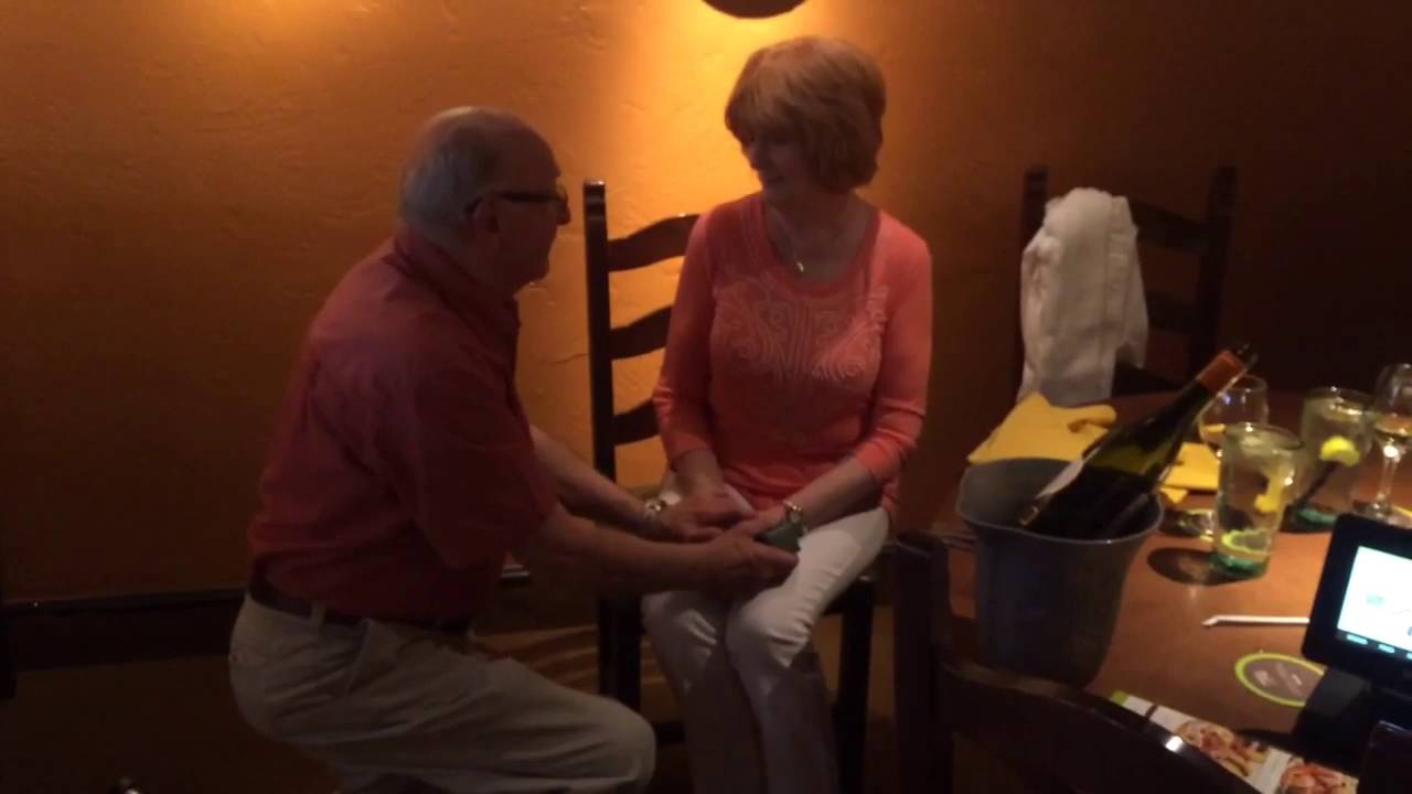DON PROPOSES TO CLARE AT OLIVE GARDEN - YouTube