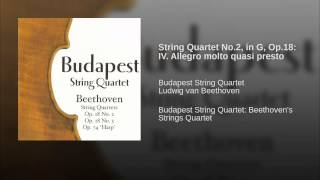 String Quartet No.2, in G, Op.18: IV. Allegro molto quasi presto