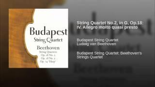 String Quartet No.2, in G, Op.18: IV. Allegro molto quasi presto