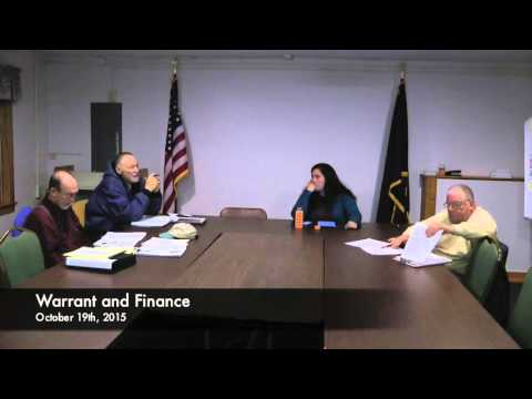 Warrant and Finance - 10-19-2015