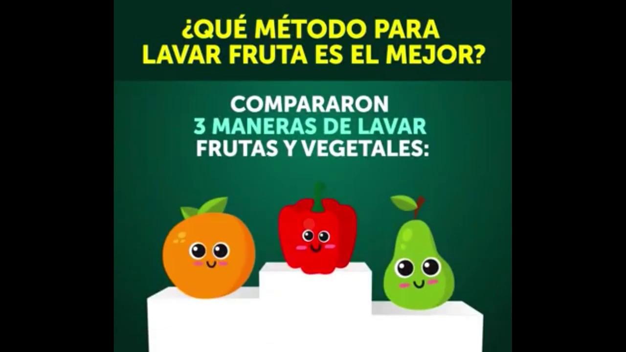 Lavar frutas y verduras con vinagre y bicarbonato