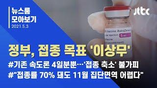 """[뉴스룸 모아보기] 백신 물량공급 '시차'에도…정부 """"상반기 접종목표 100만명 상향"""" / JTBC News"""