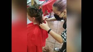 ЛЕГКО Процесс аккуратная женская стрижка Мария Бондаренко салон красоты La Familia salon Бровары