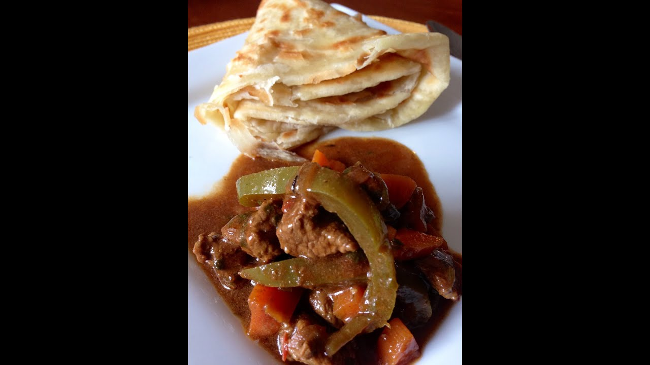 Mchuzi wa nyama (curried beef stew with peppers and vegetables ...