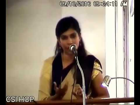 Dr. Cynthia Shakespeare - Tamil Christian message at House of Prayer Church, Adyar