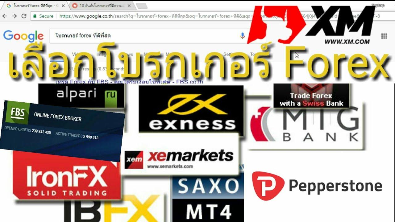 เลือกโบรกเกอร์ Forex ในประเทศไทย 2018
