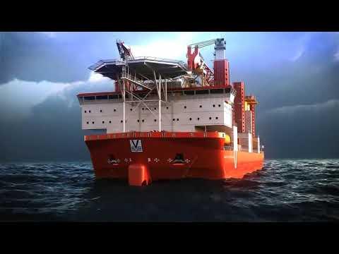 3D offshore animation of MPI's wind turbine installation vessel