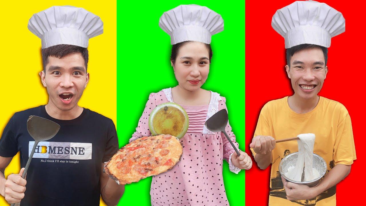 PHD | Ai Làm Bánh Pizza Và Burger Ngon Nhất Là Vua Đầu Bếp | Who Can Make a Better Pizza or Burger?