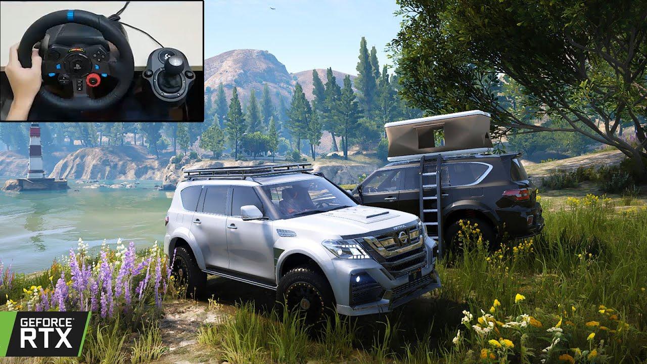 GTA 5 - Nissan Patrol Realistic Offroading