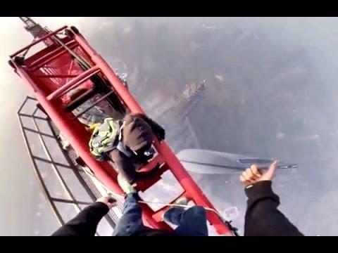 تسلق برج شنغهاي 650 متر 12.2.2014  (Shanghai Tower climbing  (650 meters