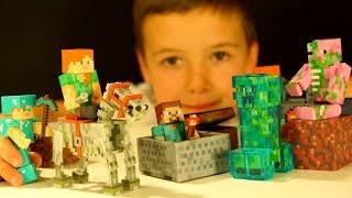 - МАЙНКРАФТ Игрушки Распаковка Посылки из Америки Кока Туб Minecraft Toys Unboxing