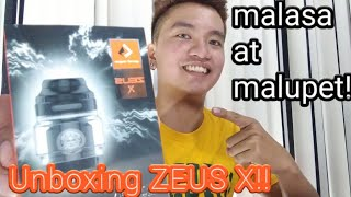 Zeus X RTA by GeekVape UNBOXING and QUICK BUILD!Top Airflow Vaping! 🇵🇭 Ph (My 1st unboxing Video)